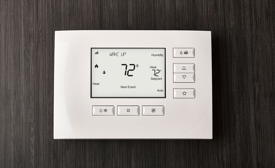 smarthome thermostat background